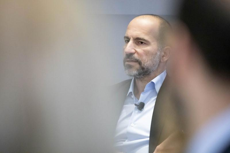 Uber CEO Dara Khosrowshahi attends a meeting with the Economic Club of New York in New York City