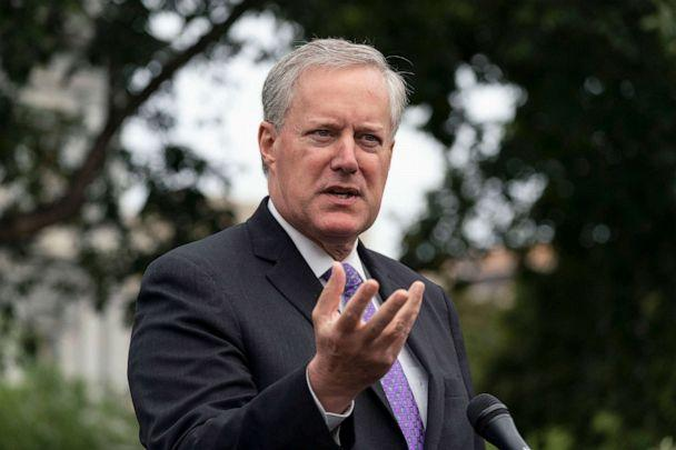 PHOTO: White House Chief of Staff Mark Meadows speaks with reporters outside the White House, Sept. 17, 2020. (Alex Brandon/AP)