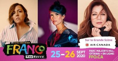 "Sept. 25-26 : First ""in person"" outdoor music festival in Ottawa. Ariane Moffatt, Mélissa Ouimet and Isabelle Boulay will be amongst the artists performing on the Air Canada Main Stage at Festival Franco-Ontarien TekSavvy. (CNW Group/Festival Franco-Ontarien TekSavvy)"