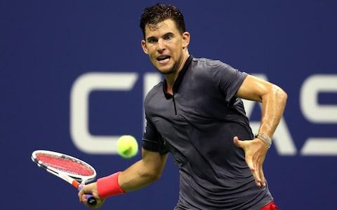 Dominic Thiem of Austria returns the ball during the men's singles quarter-final match against Rafael Nadal of Spain on Day Nine of the 2018 US Open at the USTA Billie Jean King National Tennis Center on September 4, 2018 in the Flushing neighborhood of the Queens borough of New York City - Credit: Getty Images
