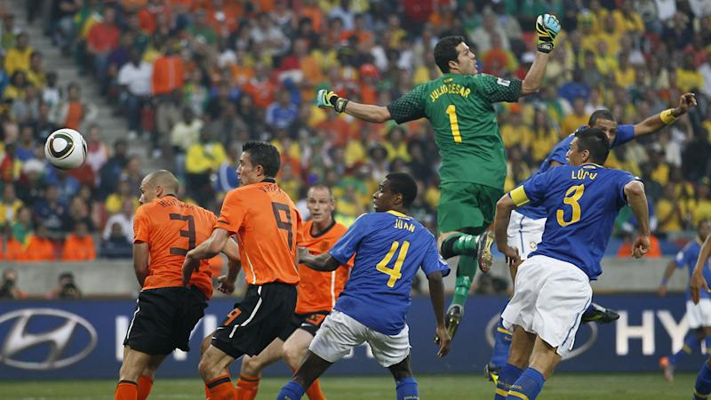 Julio Cesar Brasil Holanda Copa do Mundo 2010