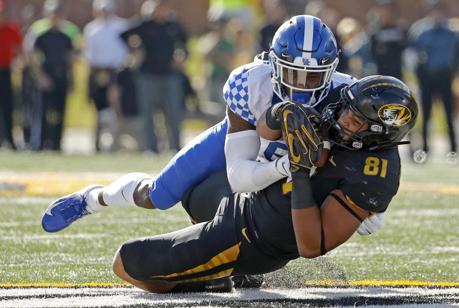Kentucky 15 14 Missouri Final 2018 10 27 College Football