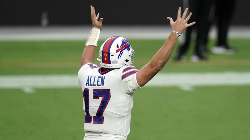 Josh Allen's NFL MVP-caliber season extends in Bills' win over Raiders
