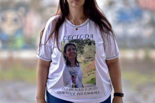 La brasileña Natalia de Oliveira perdió a su hermana y a varios amigos en el colapso del dique en enero de 2019 (AFP | DOUGLAS MAGNO)