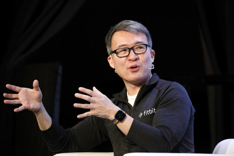 SAN FRANCISCO, CALIFORNIA - OCTOBER 04: Fitbit Co-founder/President & CEO James Park speaks onstage during TechCrunch Disrupt San Francisco 2019 at Moscone Convention Center on October 04, 2019 in San Francisco, California. (Photo by Kimberly White/Getty Images for TechCrunch)