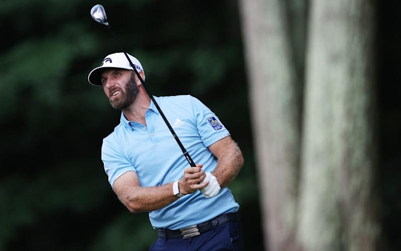 Dustin Johnson holds his nerve to win Travelers and make immediate return to world top five