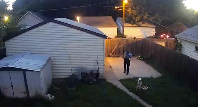 Disturbing Video Shows Cop Shooting Family's Dogs In Fenced Backyard