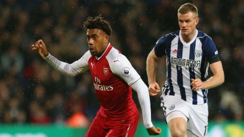 Alex Iwobi Arsenal Chris Brunt West Brom