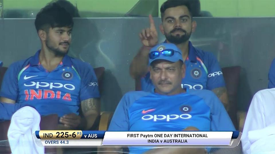 Smiling Virat Kohli shows Aussies sledging is not good