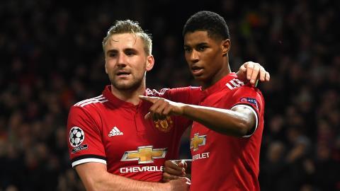Luke Shaw, Marcus Rashford, Man Utd