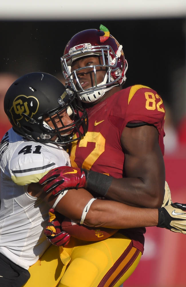 Southern California Tight End Randall Telfer Right Is
