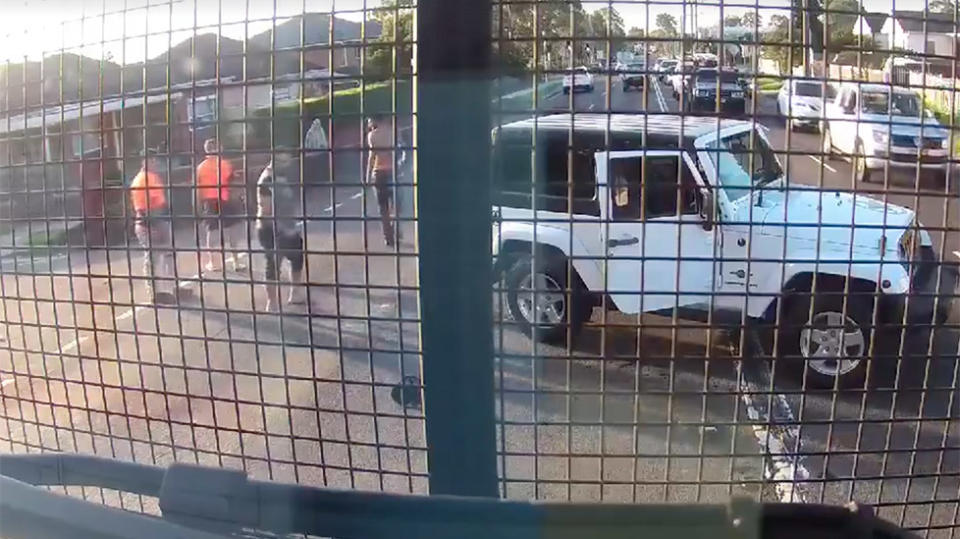 Chainsaw revved in Sydney road rage brawl