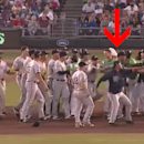 Pitcher uses baseball as weapon during brawl (Yahoo Sports)