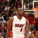 MIAMI, FL - APRIL 7: Luol Deng #9 of the Miami Heat during the game against the Charlotte Hornets on April 7, 2015 at American Airlines Arena in Miami, Florida. (Photo by Issac Baldizon/NBAE via Getty Images)
