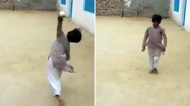 Viral video of kid bowling in backyard draws Wasim Akram comparisons