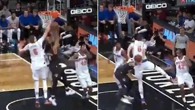 Kristaps Porzingis injures left thigh in victory over Indiana Pacers