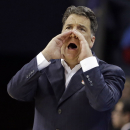 FILE - In this March 20, 2015, file photo, St. John's head coach Steve Lavin directs his team against San Diego State during the second half of an NCAA tournament college basketball game in the Round of 64 in Charlotte, N.C. St. John's announced Friday, March 27, 2015, it has