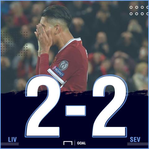 Liverpool Sevilla Score PS