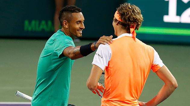 Nick Kyrgios to play Roger Federer in Miami Open semi-final