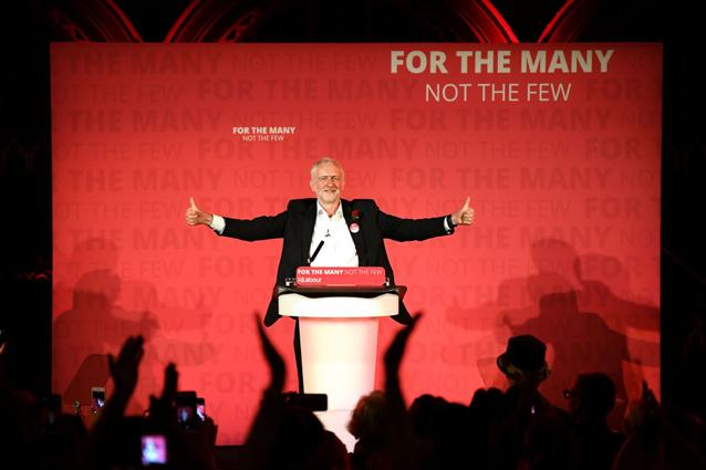 Labour's Jeremy Corbyn has momentum. Source Getty