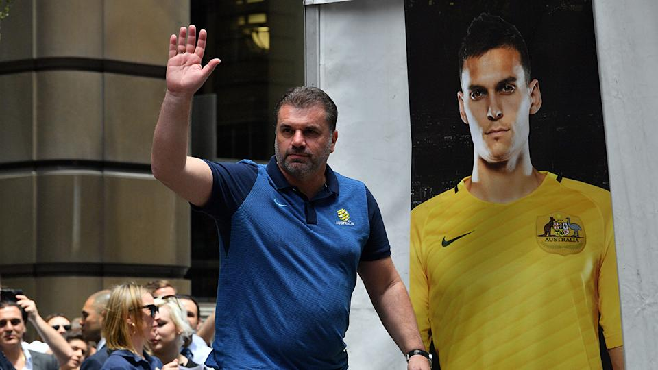Postecoglou's future is shrouded in uncertainty. Pic Getty