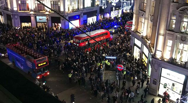 The panic erupted on one of the busiest shopping days of the year in Oxford Circus