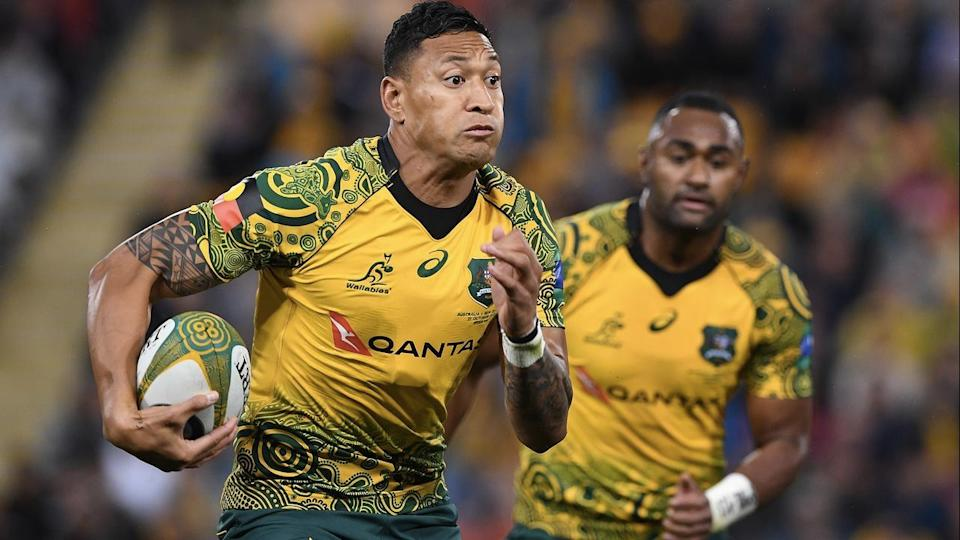 Israel Folau ruled out of Australia's European tour