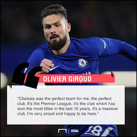 Olivier Giroud Chelsea perfect club