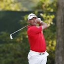 Jul 29, 2016; Springfield, NJ, USA; PGA golfer Lee Westwood tees off on the 16th hole during the second round of the 2016 PGA Championship golf tournament at Baltusrol GC - Lower Course. Mandatory Credit: Brian Spurlock-USA TODAY Sports