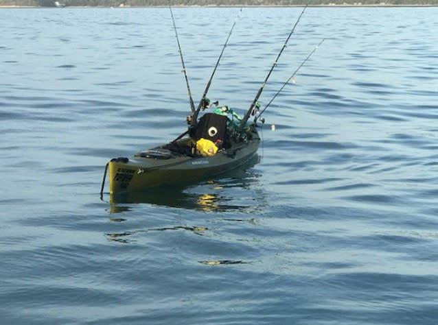 Angry shark sparks drifting kayak mystery