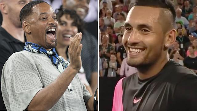 Smith and Kyrgios. Image Getty
