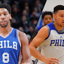 Jahlil Okafor, Ben Simmons, Joel Embiid (Getty Images)