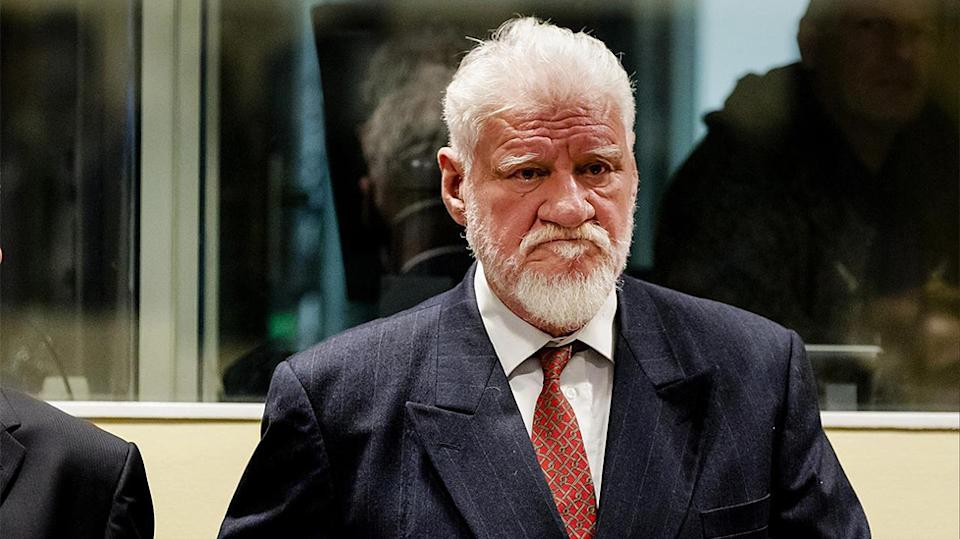 Slobodan Praljak was one of six former political leaders up before the court. Source AAP