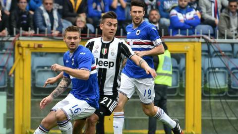 Paulo Dybala Karol Linetty Sampdoria Juventus Serie A