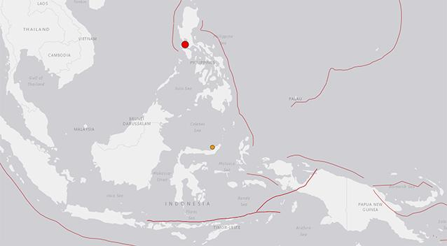 Strong quake  hits north Philippines