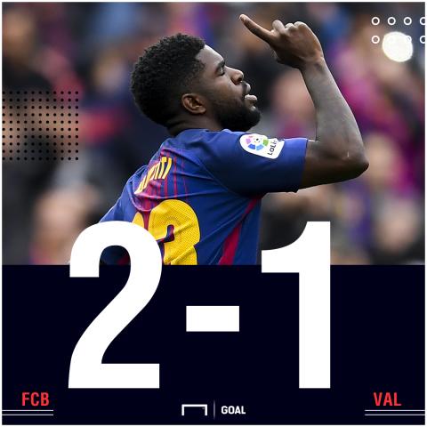 Barcelona Valencia score