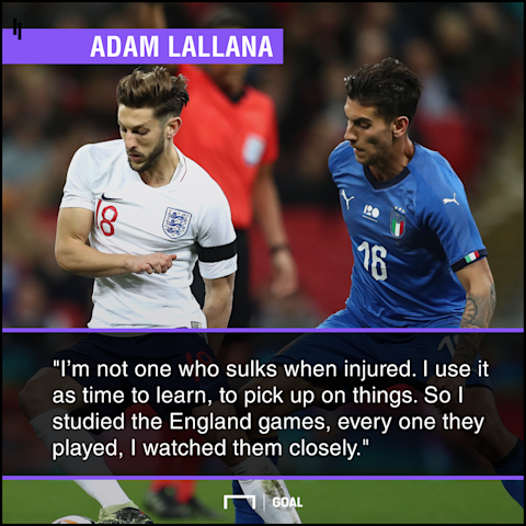 Lallana targets World Cup selection after injury nightmare