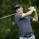 Jordan Spieth watches his tee shot on the sixth hole during the final round of the Colonial golf tournament, Sunday, May 24, 2015, in Fort Worth, Texas. (AP Photo/LM Otero)