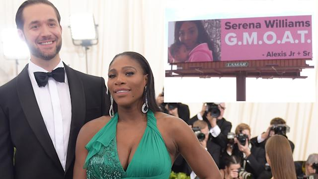 Four billboards outside Indian Wells: Alexis Ohanian's gesture for Serena Williams's return