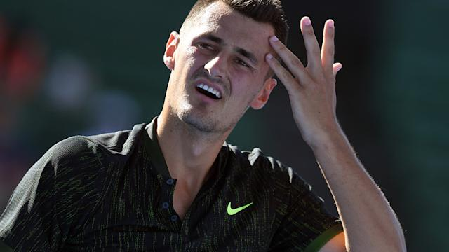 Tomic's seven-year run ends. Image Getty