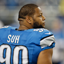 DETROIT, MI - DECEMBER 14: Ndamukong Suh #90 of the Detroit Lions participates in pre game warm ups prior to the game against the Minnesota Vikings at Ford Field on December 14, 2014 in Detroit, Michigan. (Photo by Gregory Shamus/Getty Images)