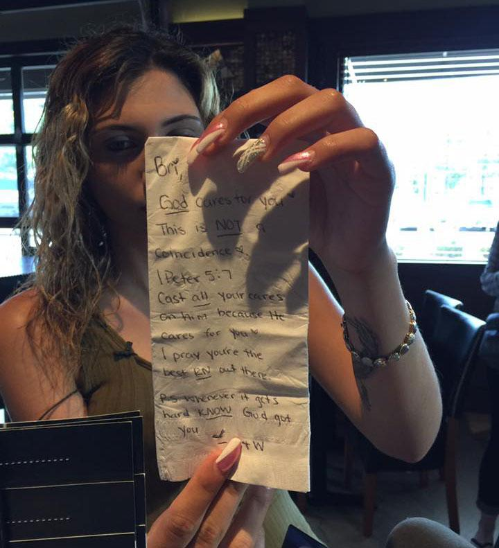 NJ Waitress Lands $1200 Tip On $20 Bill