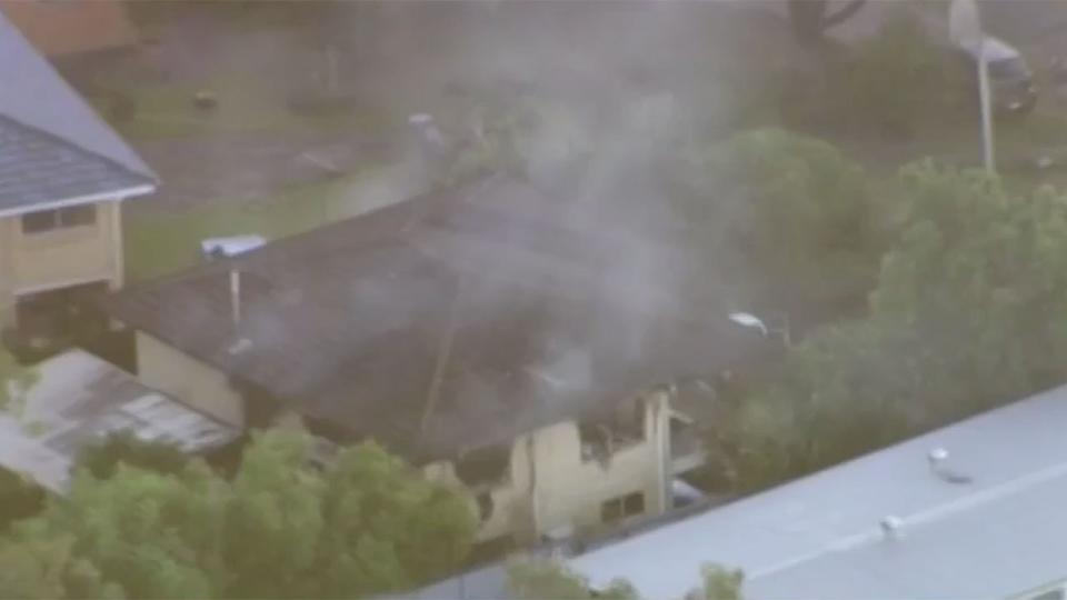 Neighbours have said they smelled fuel before the explosion at the house. Source 7 News