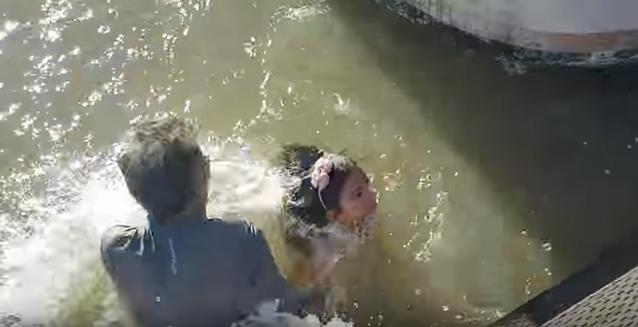 Sea lion attacks girl-tourist