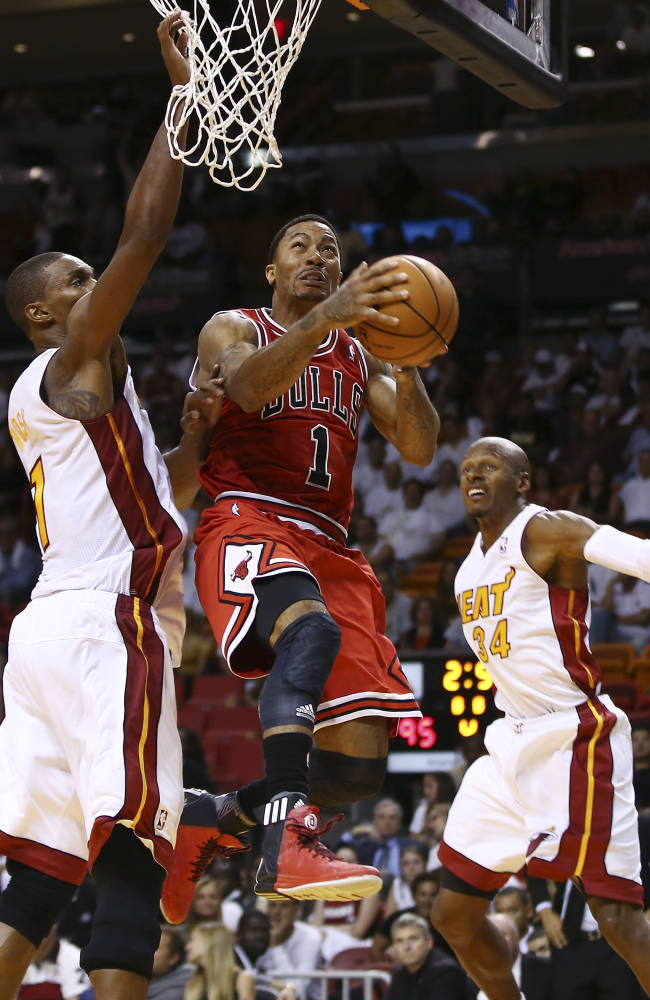 Bulls PG Rose to start despite sore neck