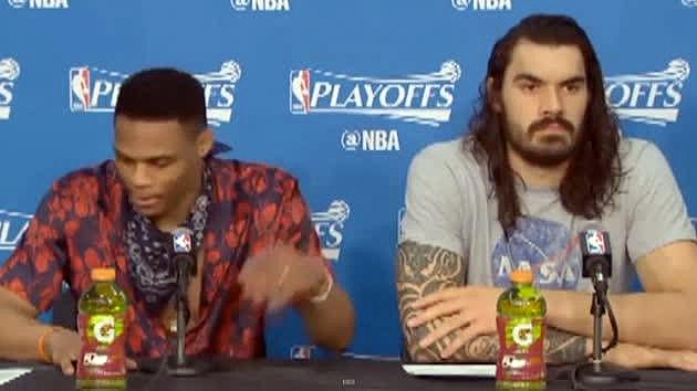Russell Westbrook Has Best Response For Rockets Players Mocking His Teammate