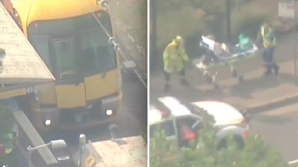 Fifteen people hospitalised in Sydney train crash