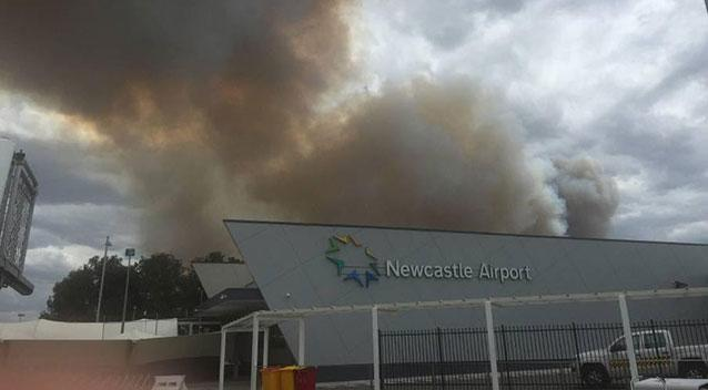 NSW bushfire emergency warning issued for blaze near Newcastle Airport