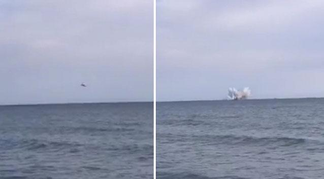 Italian pilot killed as jet crashes into the sea during airshow