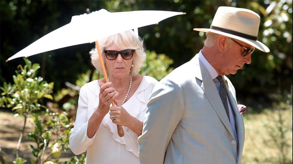 Prince Charles and Camilla touch down in Brisbane for Australian tour